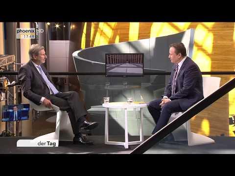 Johannes Hahn zu den EU-Beitrittverhandlungen mit Mazedonien und Albanien am 17.04.18