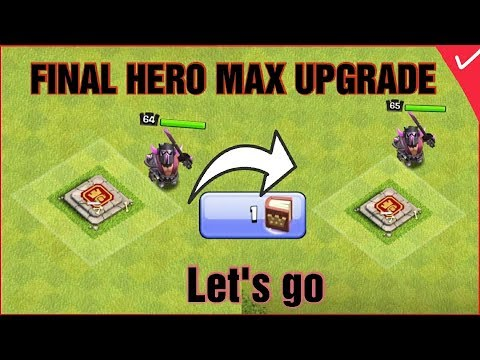 MAX BARBARIAN KING UPGRADE| FINALLY ALL HEROES MAX | CLASH OF CLANS