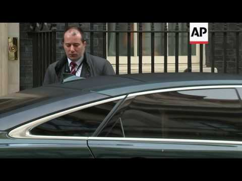May leaves Downing Street after Brexit ruling
