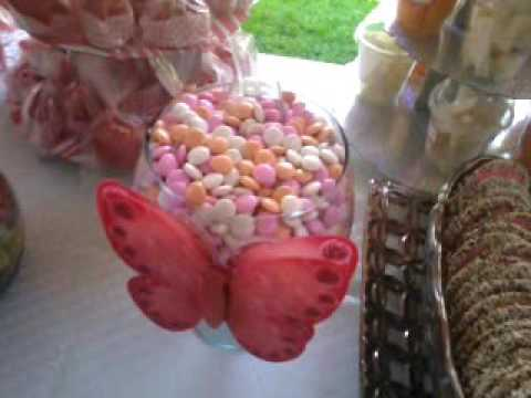 Decoraci n para bautizo con tema d mariposas youtube - Decoracion con mariposas ...