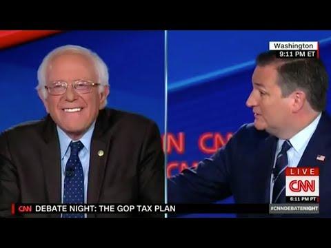 Bernie Sanders Embarrasses Ted Cruz While CNN Sleeps