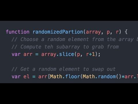 Randomized QuickSort Algorithm - ProgrammingTIL Algorithms Video Tutorial Screencast 0007