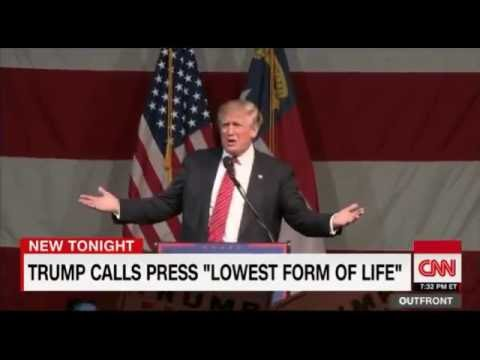 Trump Calls Media at Rally 'Lowest Form of Life' - YouTube
