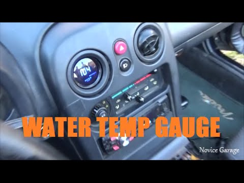 How To Install A Water Temp Gauge - YouTube