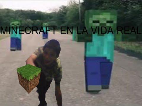 MINECRAFT EN LA VIDA REAL ESPAOL FANDUB YouTube