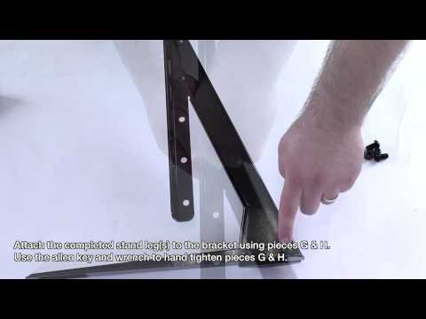 How to TV Stand - Build for Universal Table Top TV Stand/Base for 37 - 70 Flat-Screen TVs
