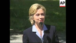 USA: NEW YORK: HILLARY CLINTON BEGINS SENATE CAMPAIGN (2)