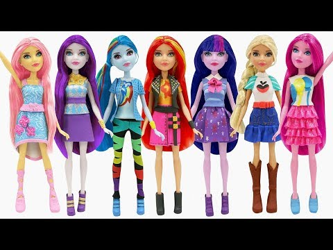 Play Doh New Outfits Equestria Girls My Little Pony Sunset Shimmer Rainbow Dash Twilight Sparkle
