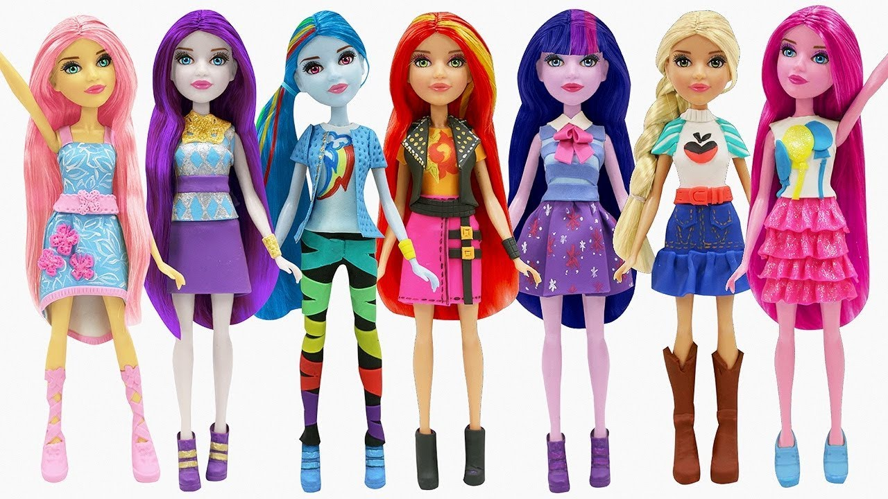 Play Doh New Outfits Equestria Girls My Little Pony Sunset