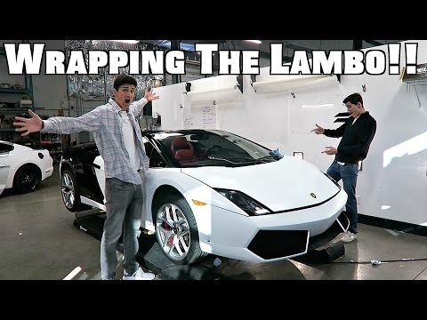 Wrapping The Lamborghini!!