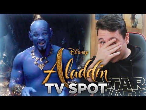 ¡¿ASÍ ES EL GENIO DE WILL SMITH?! REACCIÓN al TV SPOT de ALADDIN (2019).