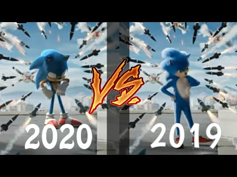 Sonic New And Old Trailer Side By Side Comparison