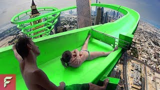 MOST INSANE Water Slides YOU CAN'T DARE TO RIDE ON!