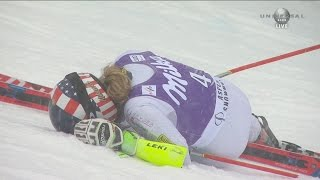 Mikaela Shiffrin - Giant Slalom Run 2 Crash - 2015 Nature Valley Aspen Winternational