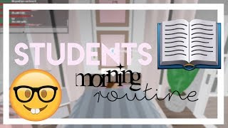 STUDENT's Morning Routine! // Roblox, Bloxburg | gxldengloss