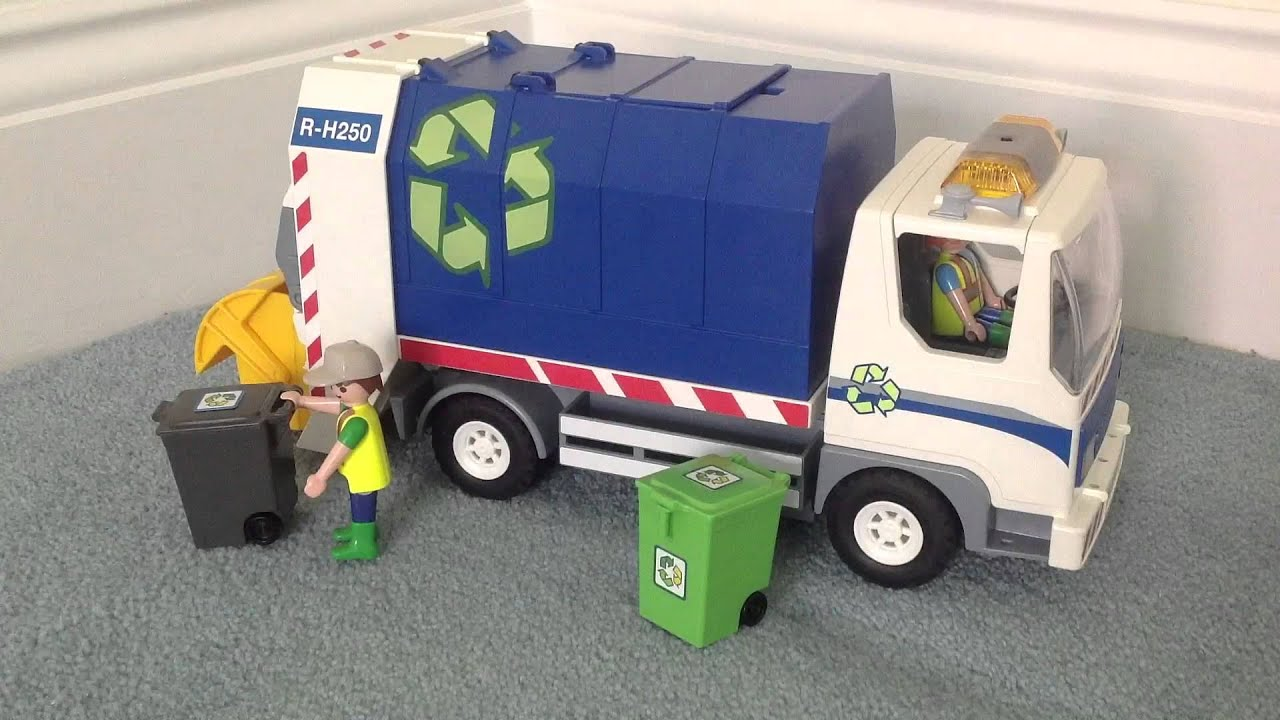 Review Playmobil Recycling Truck 4129 Youtube