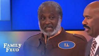 Bald as a what?! | Family Feud