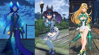 Xenoblade Chronicles 2 All Female Blades Idle Animations