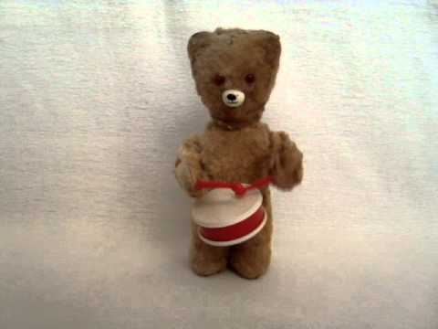 Wind Up Plush Drummer Bear Toy