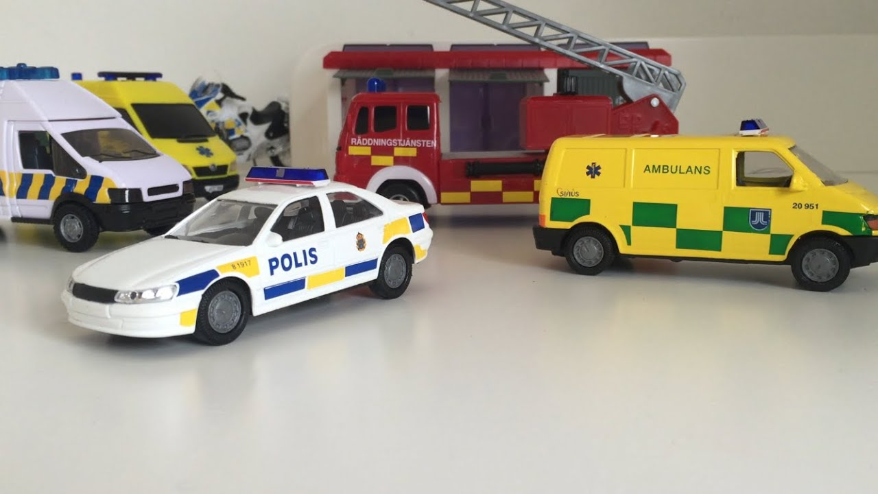 For Kids Police Ambulance Fire Engine Collection At