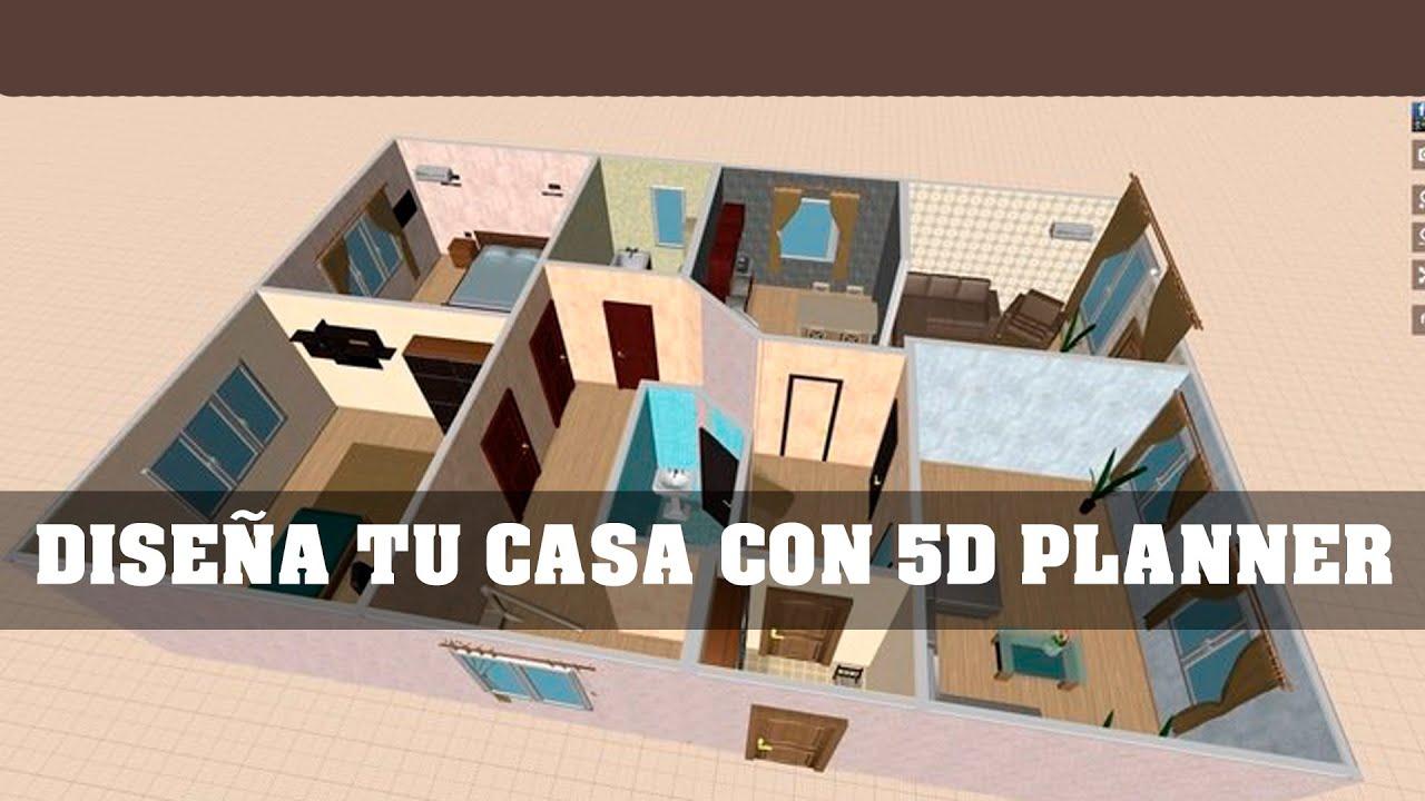 dise a tu casa con 5d planner youtube