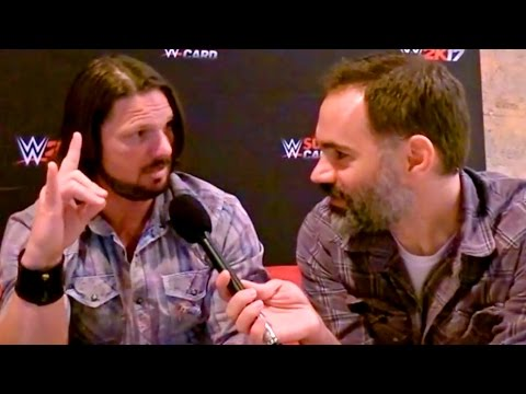DID LARSON TOO SWEET WWE CHAMP AJ STYLES??? Going In Raw INTERVIEW!