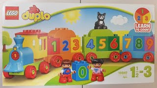 Lego Duplo Numbers train unboxing and colors numbers