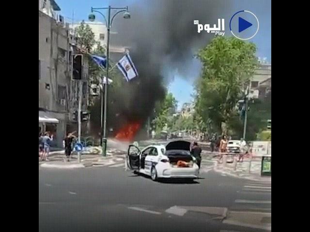 مشاهد للأضرار التي لحقت بمدينة رمات غان إثر استهدافها من قبل الفصائل الفلسطينية