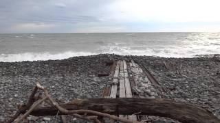 Пляж зимой в