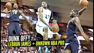 LeBron James Has a DUNK OFF w/ UNKNOWN NBA Player w/ BOUNCE Terrico White!!