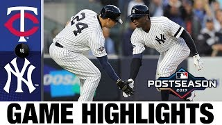 Didi Gregorius' grand slam powers Yankees to ALDS Game 2 to win | Twins-Yankees ALDS Highlights