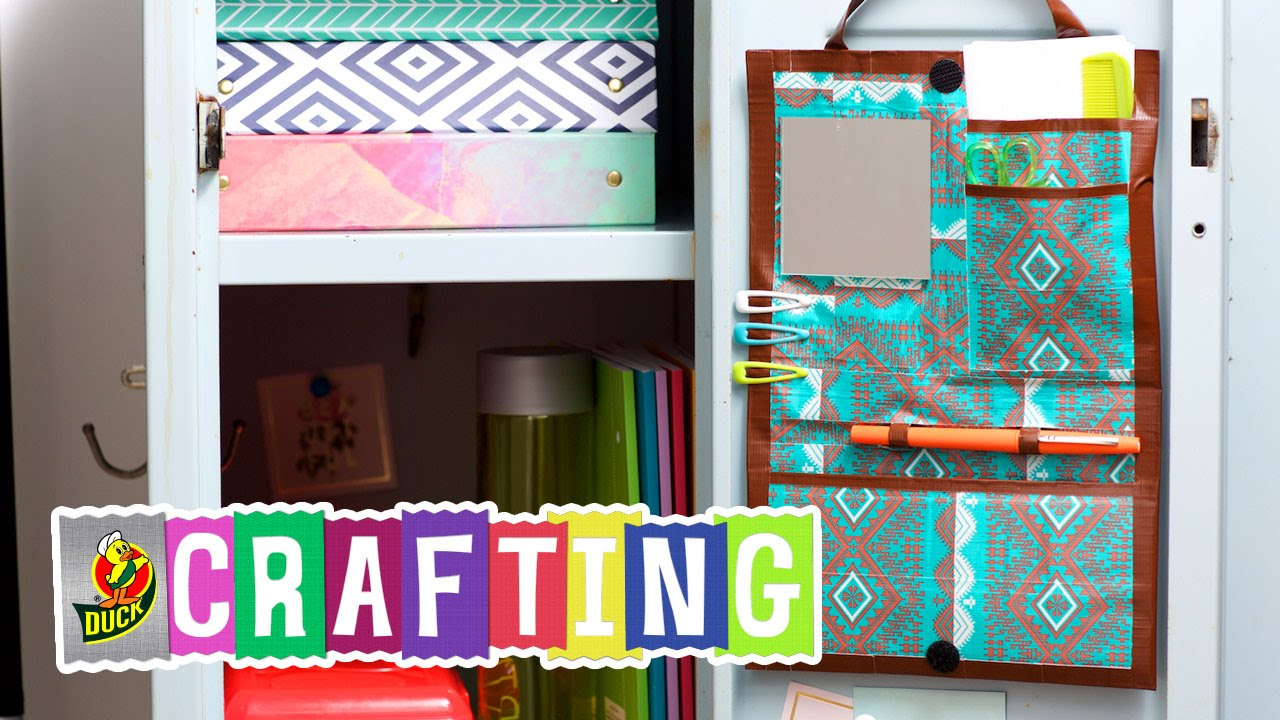 How to Craft a Duct Tape Locker Organizer  YouTube