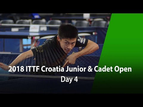 2018 ITTF Croatia Junior & Cadet Open - Day 4 (All day)
