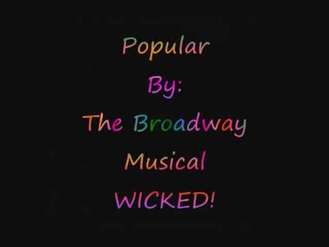 Wicked: Popular - *LYRICS*