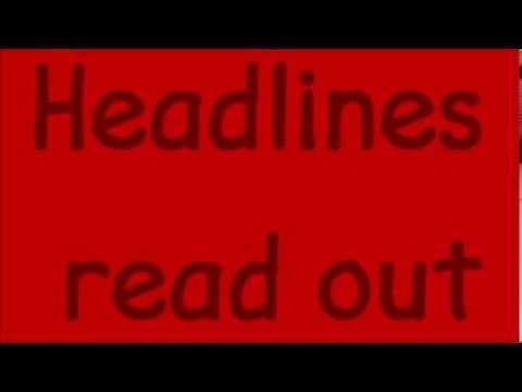 Headlines Read Out, We The Kings Lyrics