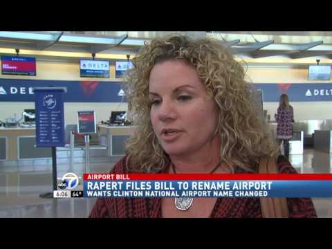 Senator files a bill to rename Bill and Hillary Clinton National Airport News Clips Feb 24, 2017