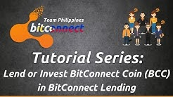 Bitconnect Tagalog - Tutorial Series -  Lend or Invest BitConnect Coin  in BitConnect Lending
