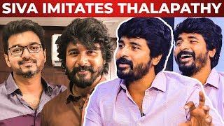 "Sivakarthikeyan Imitates Thalapathy Vijay| Thalapathy Said ""Semmaya Aadraya Nee"" | RS 25"