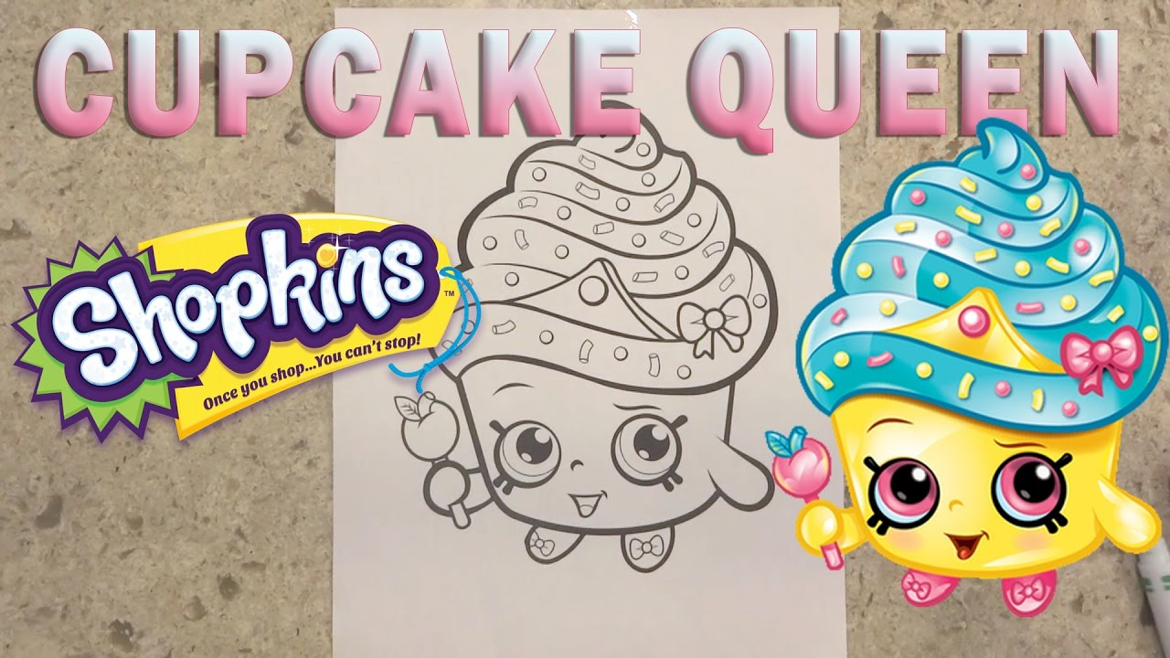 Where to buy shopkins coloring book - Shopkins Cupcake Queen Coloring Page Kids Coloring Book