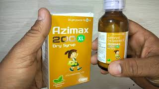 Azimax 200 XL Dry Syrup uses benefits & review in Hindi