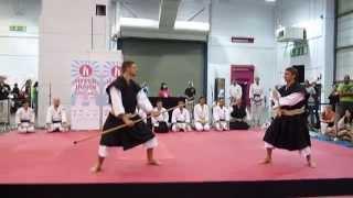 英国少林寺拳法連盟 錫杖・如意デモ、ハイパージャパン2014 BSKF Shorinji Kempo