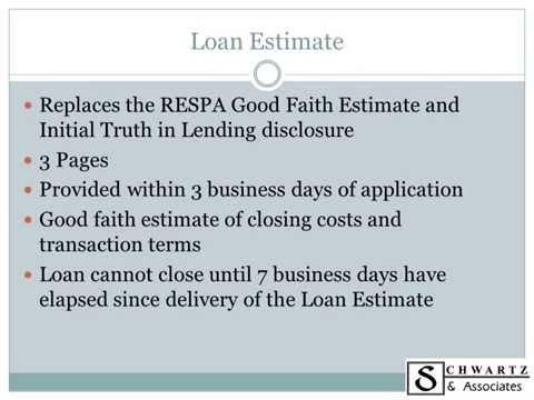 Integrated Mortgage Disclosures Presentation