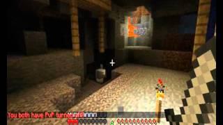 Minecraft русский сервер, уроки выживания часть 5-Алмазы.wmv