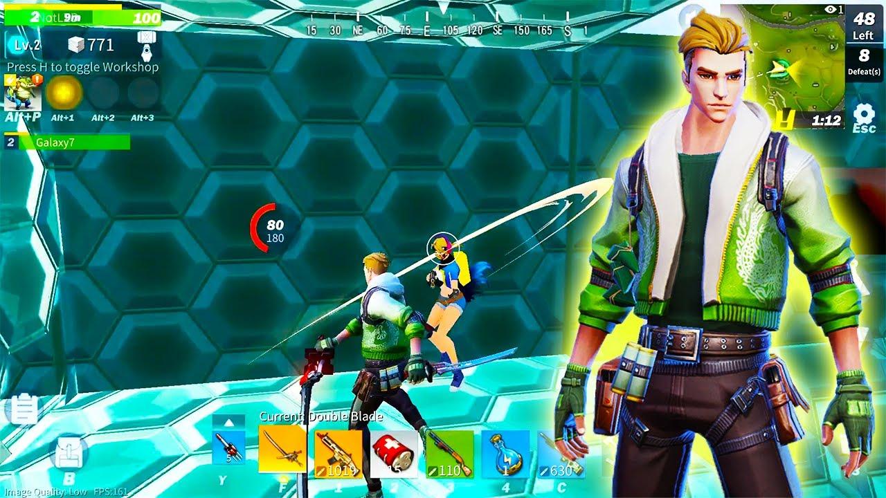 22 Kills Duo Game with Green Jacket Skin (Creative Destruction)