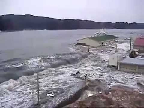 Tsunami at Kesennuma port, Iwate Prefecture, view 1