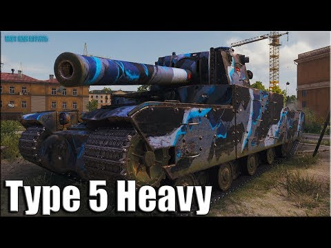 10к урона на Type 5 Heavy ✅ World of Tanks лучший бой ТТ-10 Японии