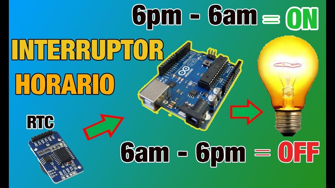 INTERRUPTOR HORARIO CON ARDUINO || CON RTC (tiempo real) Y PANTALLA LCD||  BIEN EXPLICADO !!