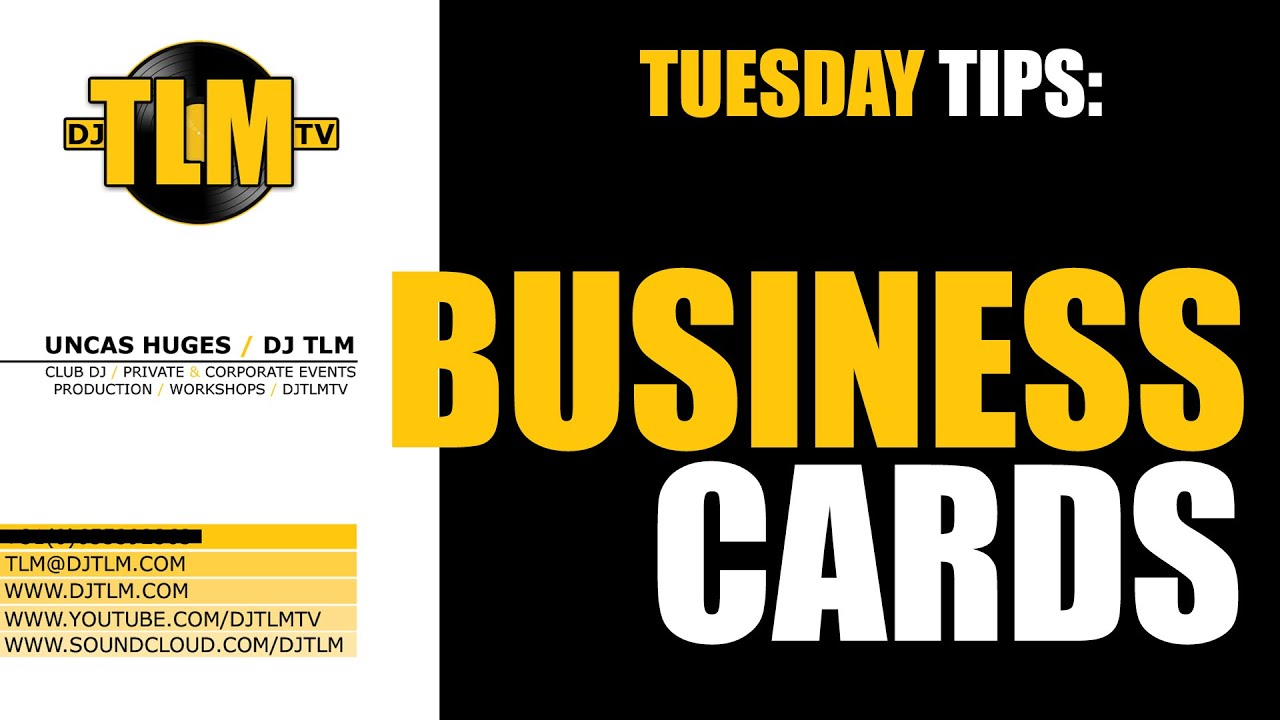 Dj business cards tuesday tips youtube reheart Choice Image
