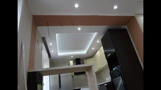 РаЗмеры Короба Как сделать потолок из гипсокартона со светодиодной подсветкой ! Парящий потолок