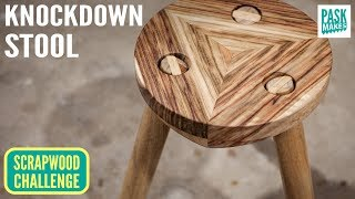 Knockdown stool with Removable Legs - Scrapwood Challenge Episode Fourteen